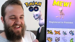 I CAUGHT A 96% IV MEW - OMG! (POKEMON GO MYTHICAL QUEST COMPLETE)