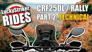 2017 Honda CRF250 L / Rally on technical terrain