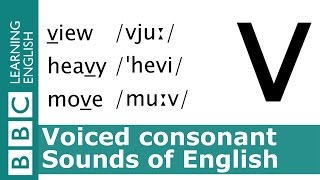 Say view, heavy and move. Voiced Consonants. Pronunciation Tips.