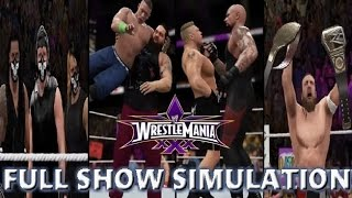 WWE 2K16 SIMULATION: WRESTLEMANIA 30 FULL SHOW HIGHLIGHTS