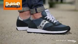 Saucony Jazz Original Sneaker blue silver (On-Feet) @Stylefile