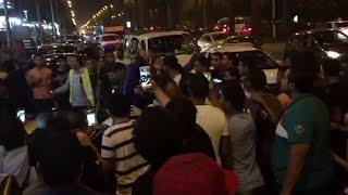 محمد رمضان يتسبب في ازمة مرورية غير مقصودة بشارع الهرم