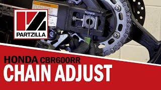 How to Adjust a Motorcycle Chain   Honda CBR   Partzilla.com