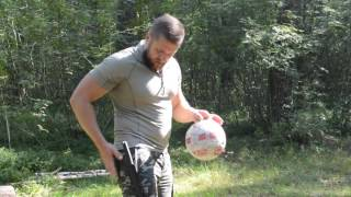 Kizlyar Supreme knives SENSEI & SENPAI vs soccer balls. :) :) :)