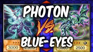 Yugioh BLUE-EYES vs PHOTON DRAGON (Yu-gi-oh Competitive Deck Duel!)