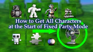 FNAF World - How to Unlock/Get ALL CHARACTERS at the Start of FIXED PARTY Mode