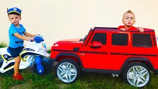 Baby STEALS and drive by POWER WHEEL Cars 3 Johny Johny Yes Papa Song Nursery Rhymes Songs