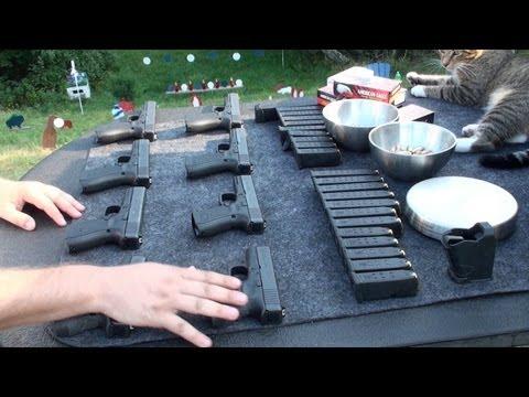 Todas las Pistolas Glock de Calibre 9 y 40 en Español. Armas en el Campo de Tiro