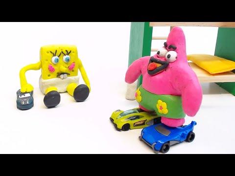 Xxx Mp4 Baby SpongeBob Friends Play Cars Play Doh Animation Kids Stop Motion Video 3gp Sex