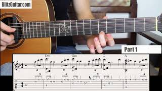 Sweet Fingerstyle Melody for Beginners in D minor Key!