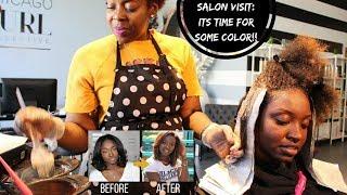 Salon Visit | Coloring My Natural Hair (Fall Colors)