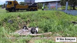 Um morto e três feridos em acidente na BR-101