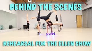 Sorry / Acrobatic Hoverboard Dance Cover / Behind The Scenes Rehearsal For The Ellen Show / Acrobots
