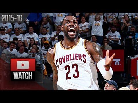 LeBron James Full Highlights vs Pistons 2016 Playoffs R1G2 - 27 Pts (DET Feed)