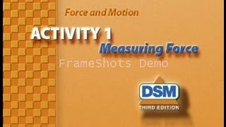 Force and Motion - Activity 1: Measuring Force