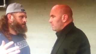 Dana White gets Angry at Roy Nelson Behind his Back. HD