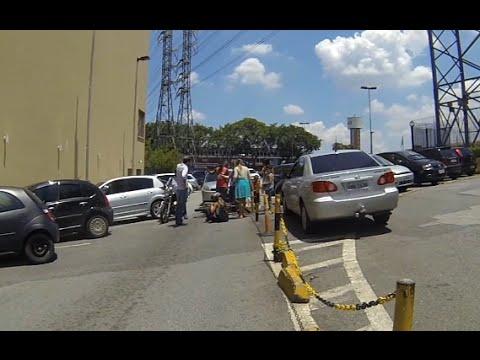 Acidente de moto dentro do Shopping Internacional de Guarulhos SP ★HD60fps★