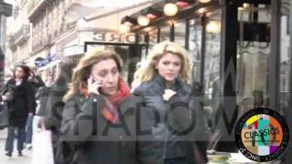 Reality TV Celine Durand having fun with the paparazzi in Paris