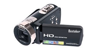 Unboxing and first impressions of the - Besteker HD 1080P 24MP 16X Digital Zoom Video Camcorder