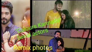 """Colours Kannada"" serial actors remix song photos"