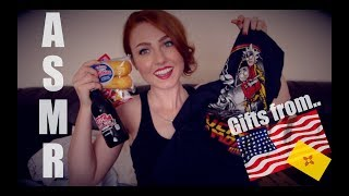 ASMR - Unboxing gifts from a Subscriber! ULTIMATE crinkle sounds!