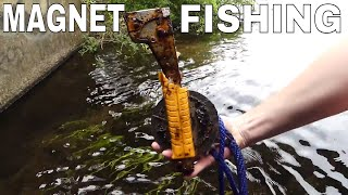 FIRST TIME *MAGNET FISHING* WITH 1,000 LB PULL MAGNET!!