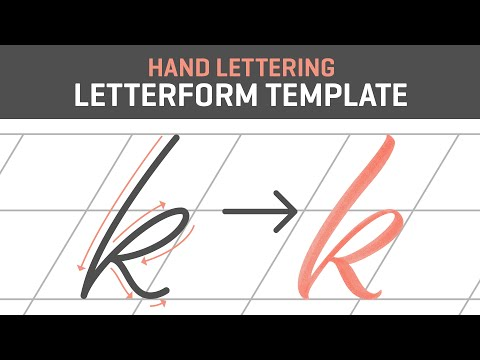 Hand Lettering Tutorial for Beginners | Letterform Template [Free]