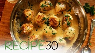 Forget IKEA, try these Swedish chicken meatballs in a mustard cream sauce