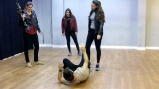 ejercicios lucha escenica primera coreografia de alumnos mañanas 1