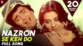 Nazron Se Keh Do - Full Song HD | Doosara Aadmi | Rishi | Neetu | Kishore Kumar | Lata Mangeshkar
