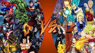 Comics VS Manga (Marvel & DC vs Dragon Ball Super, Pokémon, One Piece) CARTOON FIGHT CLUB REACTION!
