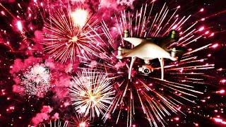 10,000 Fireworks BATTLE 1 Drone - Who will win? | DEVINSUPERTRAMP