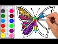 Download Video Download Drawing for Kids | Butterfly, And Many | Picture Coloring Pages 3GP MP4 FLV
