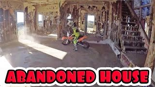 DIRT BIKE RIDING IN ABANDONED HOUSE