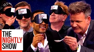 Gordon Ramsay Blindfolding Celebs & Feeding Them Strange Foods | COMPILATION