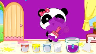 Baby Learn Colors with Little Panda Color Mixing Fun - Baby Panda Kids games