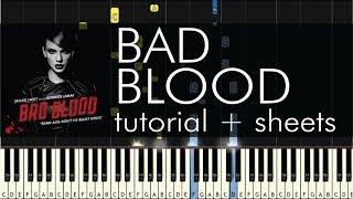 Bad Blood - Piano Tutorial - How to Play - Taylor Swift