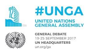 #UNGA General Debate - 22 September 2017