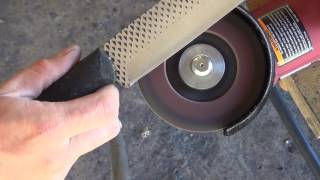 How to Make a Chopping Knife From a 2 Dollar Farrier's Rasp with Minimal Power Tools   The Worke