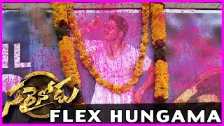 Allu Arjun Fans Flex Hungama @ Sarainodu Movie Theaters - Allu Arjun , Rakul Preet Singh