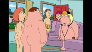 Family Guy - Lois and Peter play a board game nude