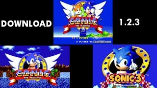 DOWNLOAD Sonic The Hedgehog 1 OR 2 OR 3 game free PC full version