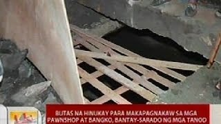UB: Butas na hinukay para makapagnakaw sa mga pawnshop at bangko sa Pasay, bantay-sarado