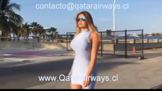 ANASTASIYA KVITKO / QATAR AIRWAYS / Chile /  Aнастасия Квитко Vanguardia Estilo / Bob Sinclair word