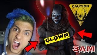 DO NOT WATCH SCARY CLOWN VIDEOS AT 3AM!! *OMG PENNYWISE CAME TO MY HOUSE* (GONE WRONG)