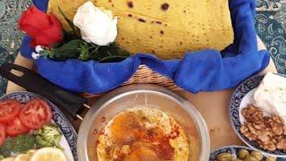 آموزش نان تافتون نان سنتی ایران از مامان تی وی(پروانه جوادی)