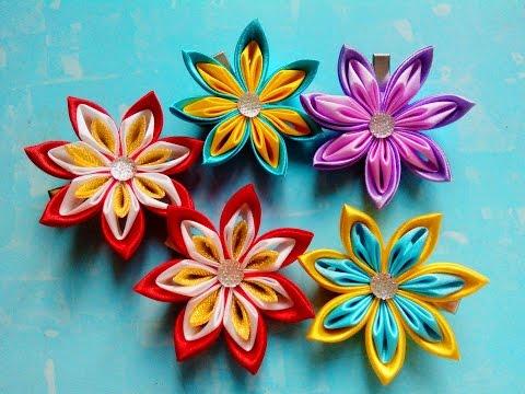 Цветы канзаши своими руками мастер-класс