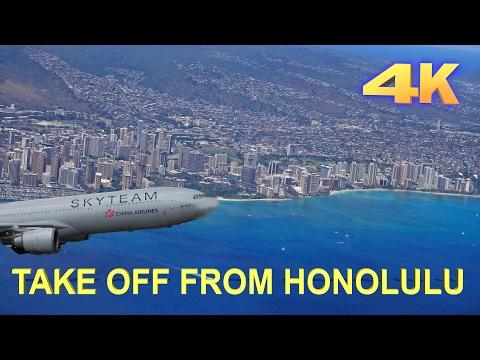 Honolulu Take Off - 2016 4K
