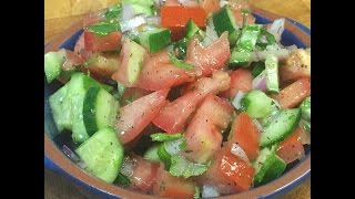 How To Make Salad Shirazi & Persian Dressing
