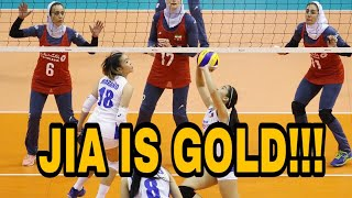 JIA MORADO WITH A JIAMAZING MOVE VS IRAN | PHILIPPINES VS IRAN AVC CUP 2018